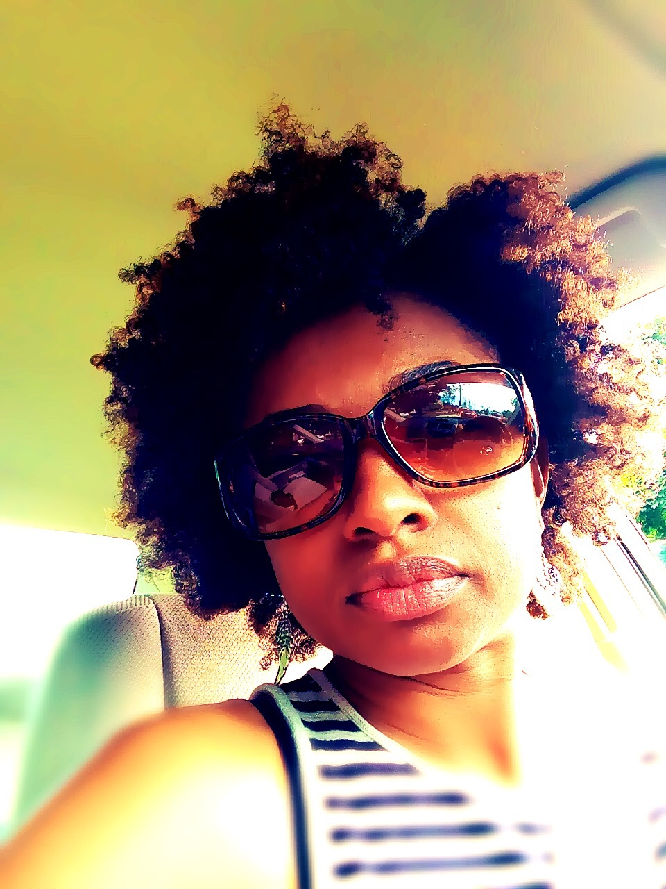 Natural Hair Twist-out with Jamaican Castor Oil and Aloe Vera Gel ...