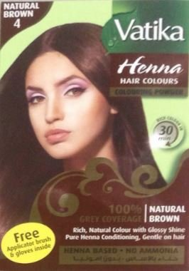 Vatika Henna Natural Brown Hair Color Ammonia Free 60 G 2 11 Oz