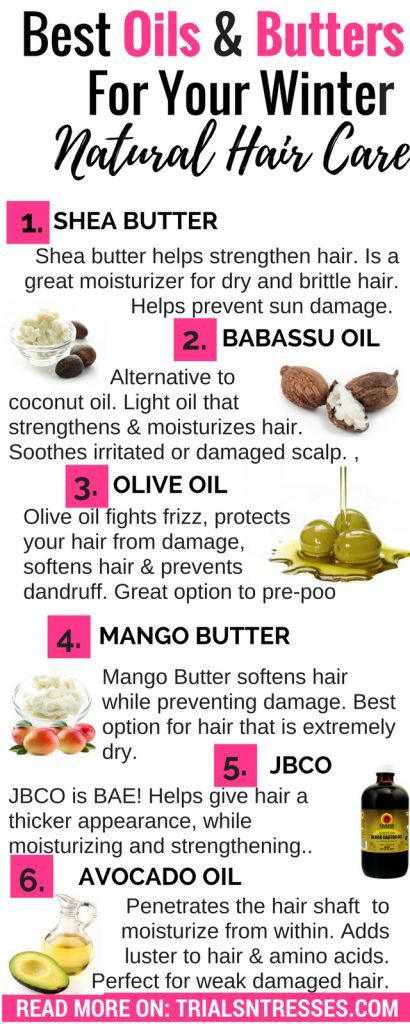 best oils and butters for winter natural hair care ...