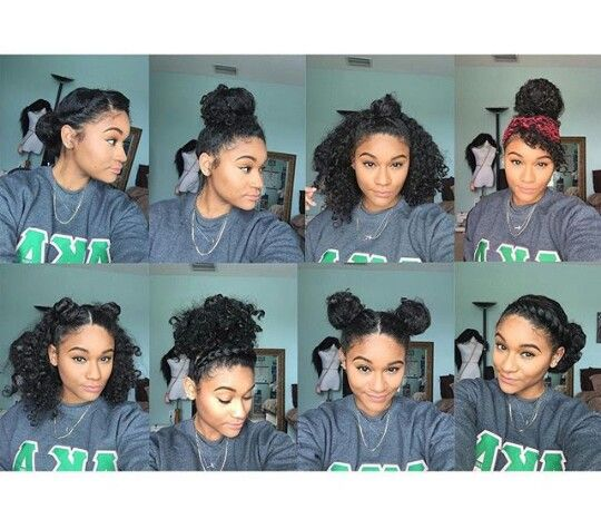 8 bun styles for natural, curly hair -(Ig:_kharissa)... - Everything ...