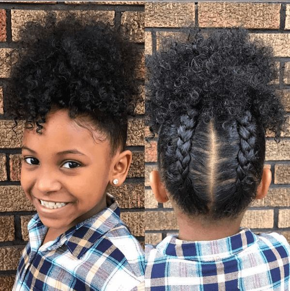 Lovely Little Natural with a Curly Updo IG:@_londyn.rhayneb__ ...