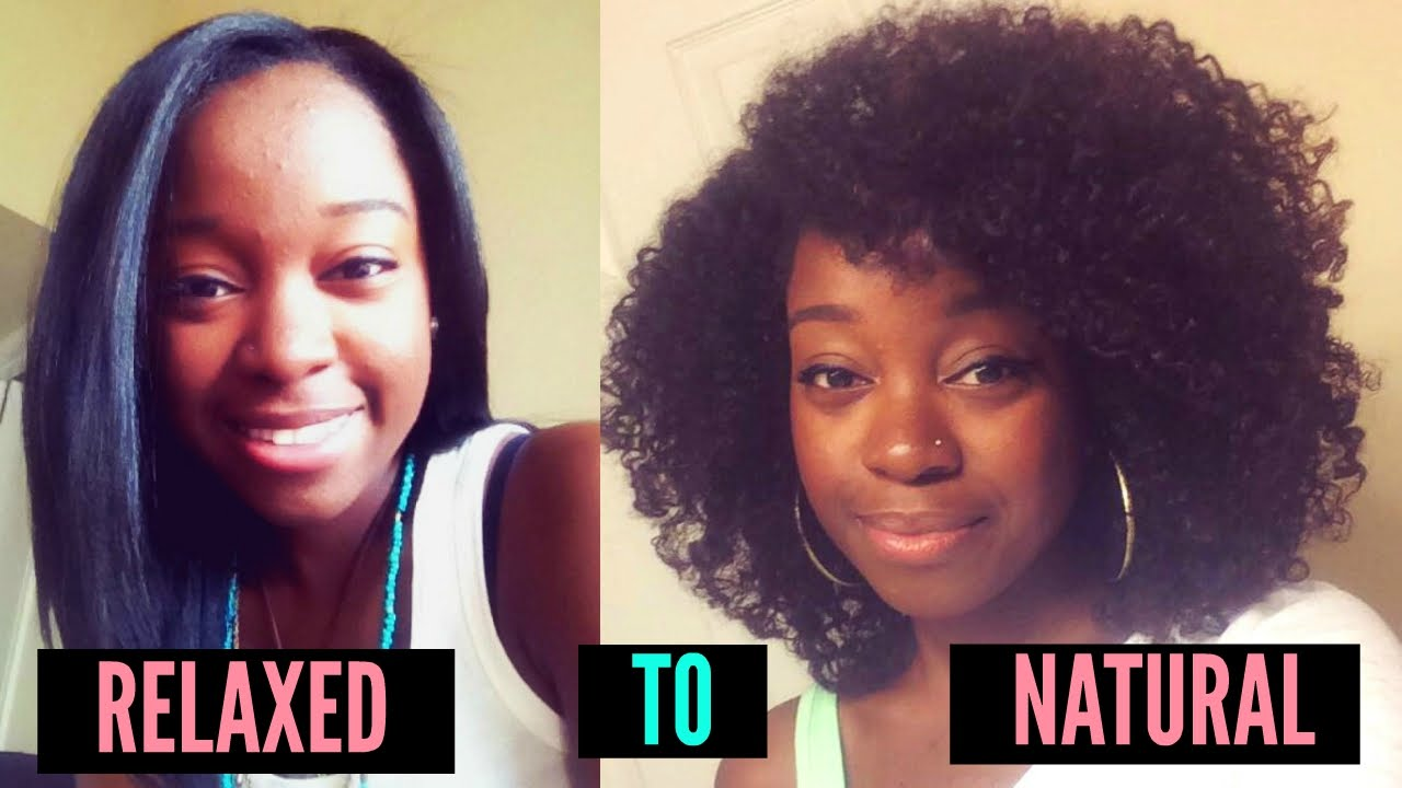 how to go natural with relaxed hair