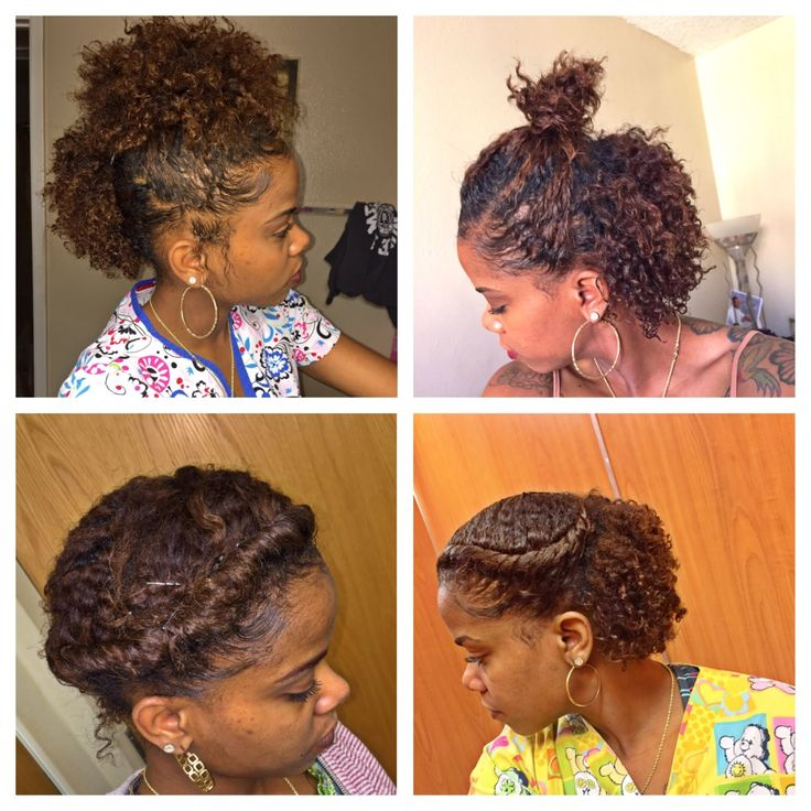 6 CUTE HAIRSTYLES FOR A BRAID OUT | SHORT HAIR | NATURAL HAIR ...