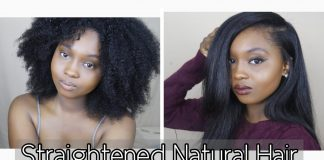 How I Straighten My Thick Natural Hair 3 Years Natural