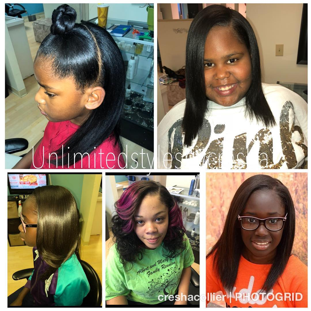 Natural Hair Silk Press Bottom Middle Picture Natural Looking