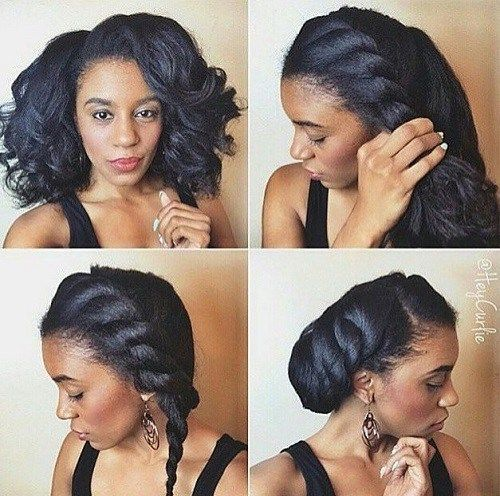 side twist updo for natural hair - Everything Natural Hair
