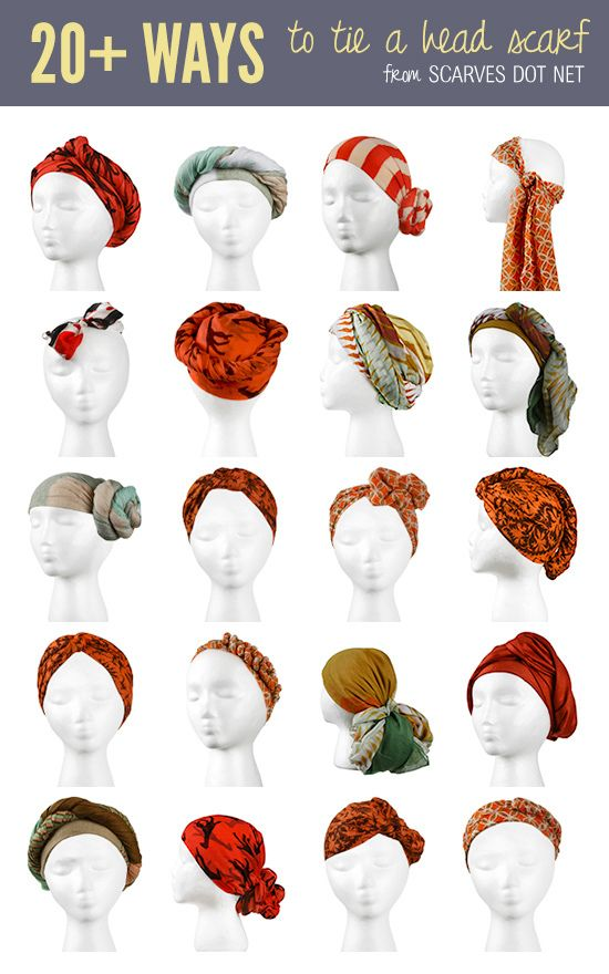 20 Ways To Tie A Head Scarf Everything Natural Hair