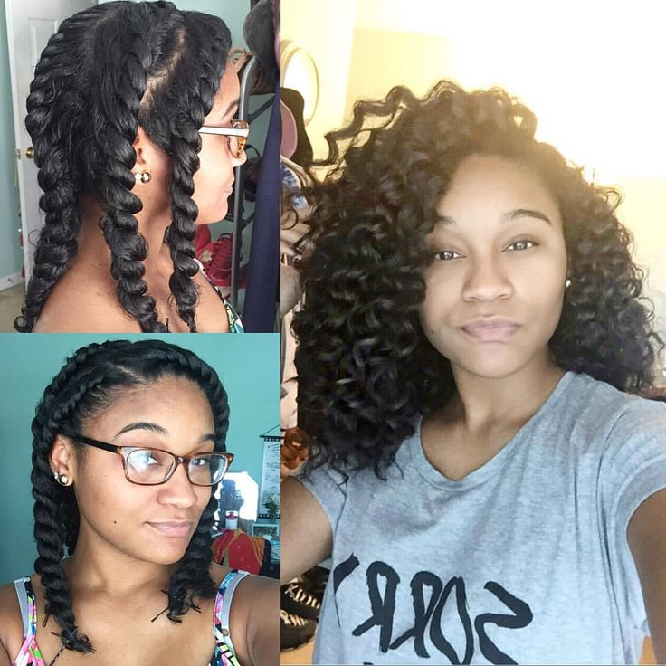 """Protective Natural Hair Styles on Instagram: """"By @_kharissa ..."""