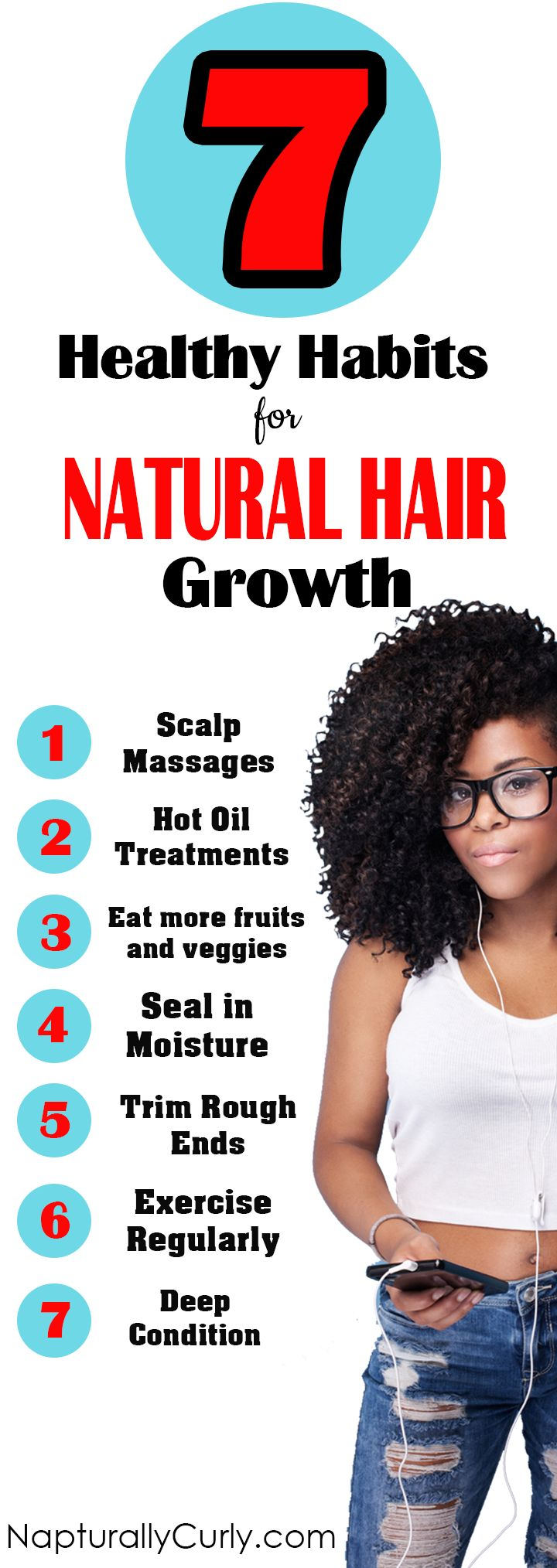 Great Habits To Grow Your Natural Hair Longer