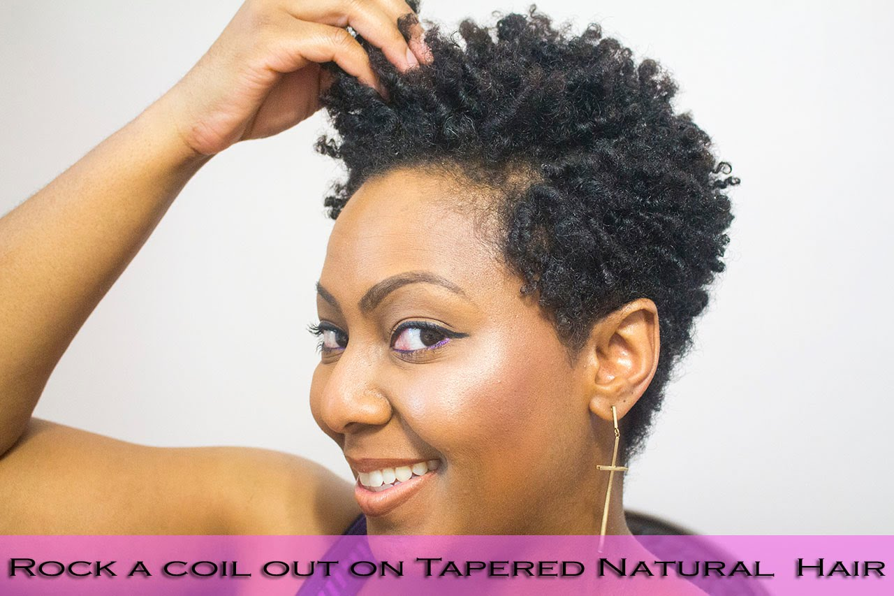 How To Do Finger Coils On Natural Hair And Rock A Coil Out With A Tapered Cut Everything Natural Hair