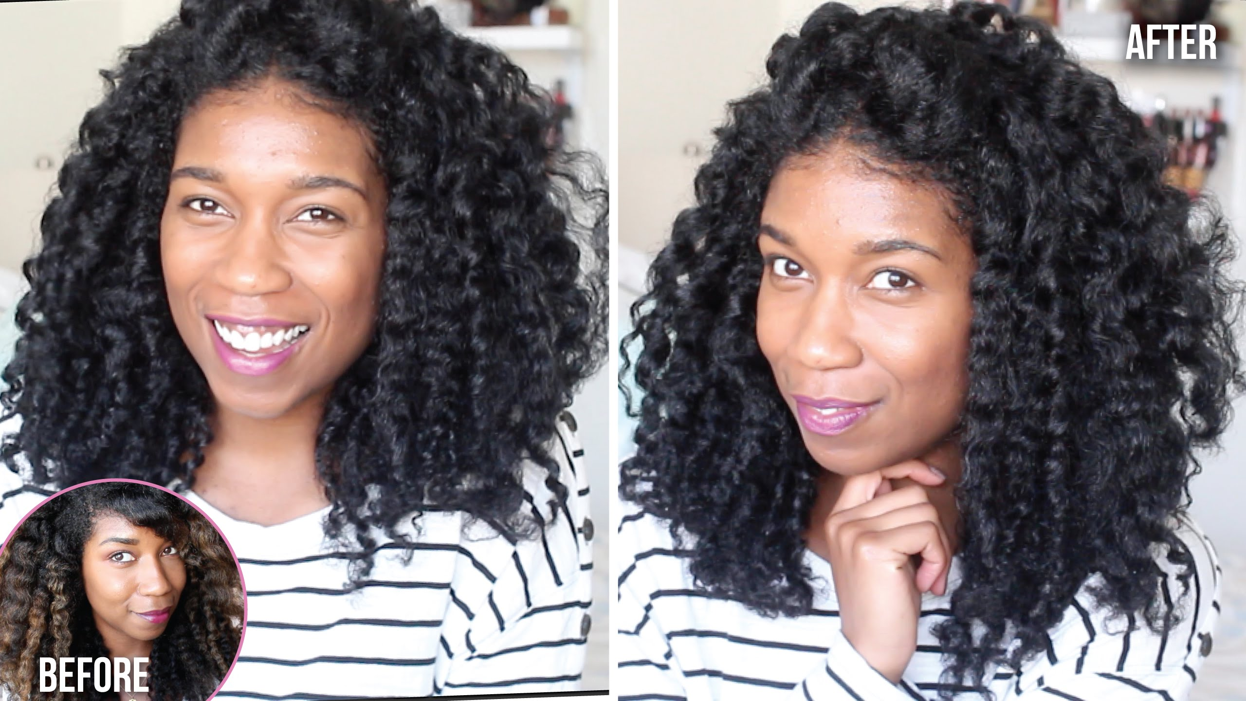 BACK TO BLACK | Dying Natural Hair at Home BOX DYE Demo + ...