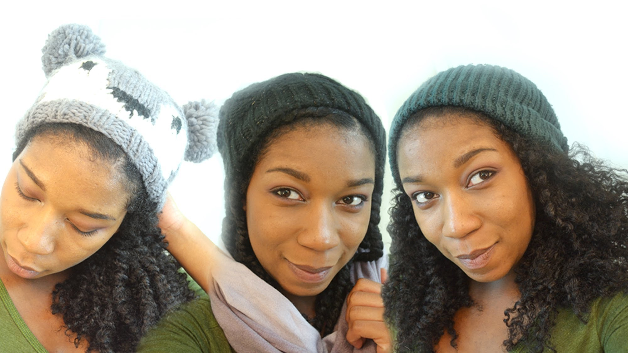 Different Ways to Wear Your Beanie Hat with Natural Hair - Everything Natural  Hair b141e668356