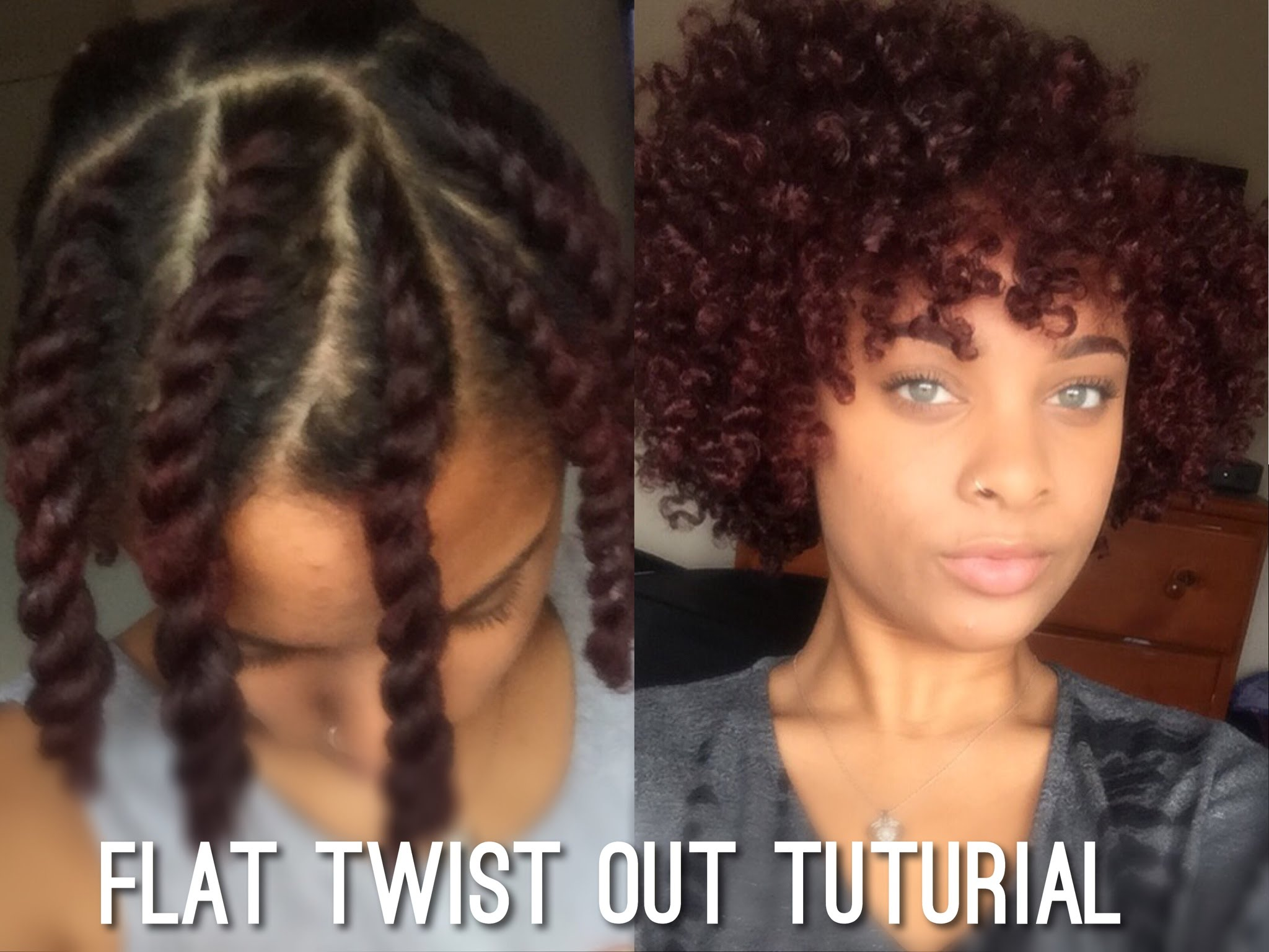 Flat Twist Out On Short Medium Length Natural Hair