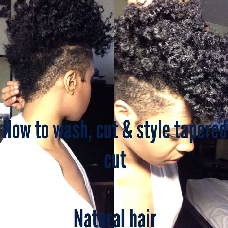 Natural Hair How I Wash Shape Style My Tapered Cut Everything