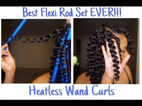Amazing Natural Hair Flexi Rod Set L Heatless Wand Curls Video Black Natural Hairstyles Runnerswayorg