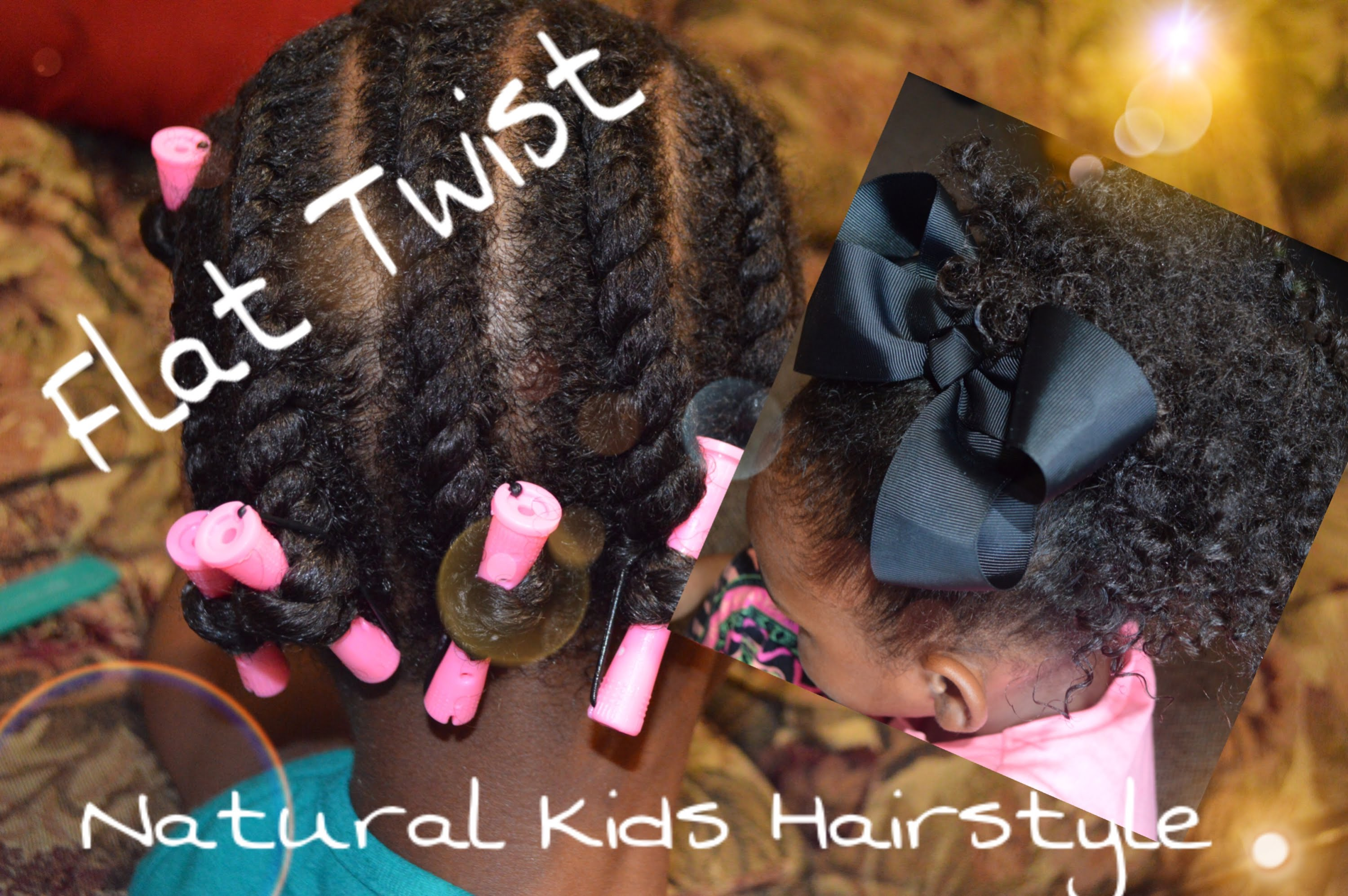Natural Hair Styles For Little Girls Flat Twist 3 Styles Ft My