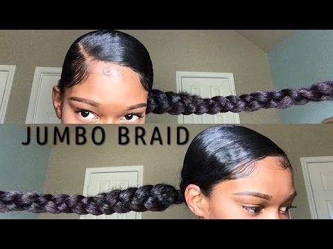 Jumbo Braid Ponytail With Kanekalon Hair Natural Hair Video