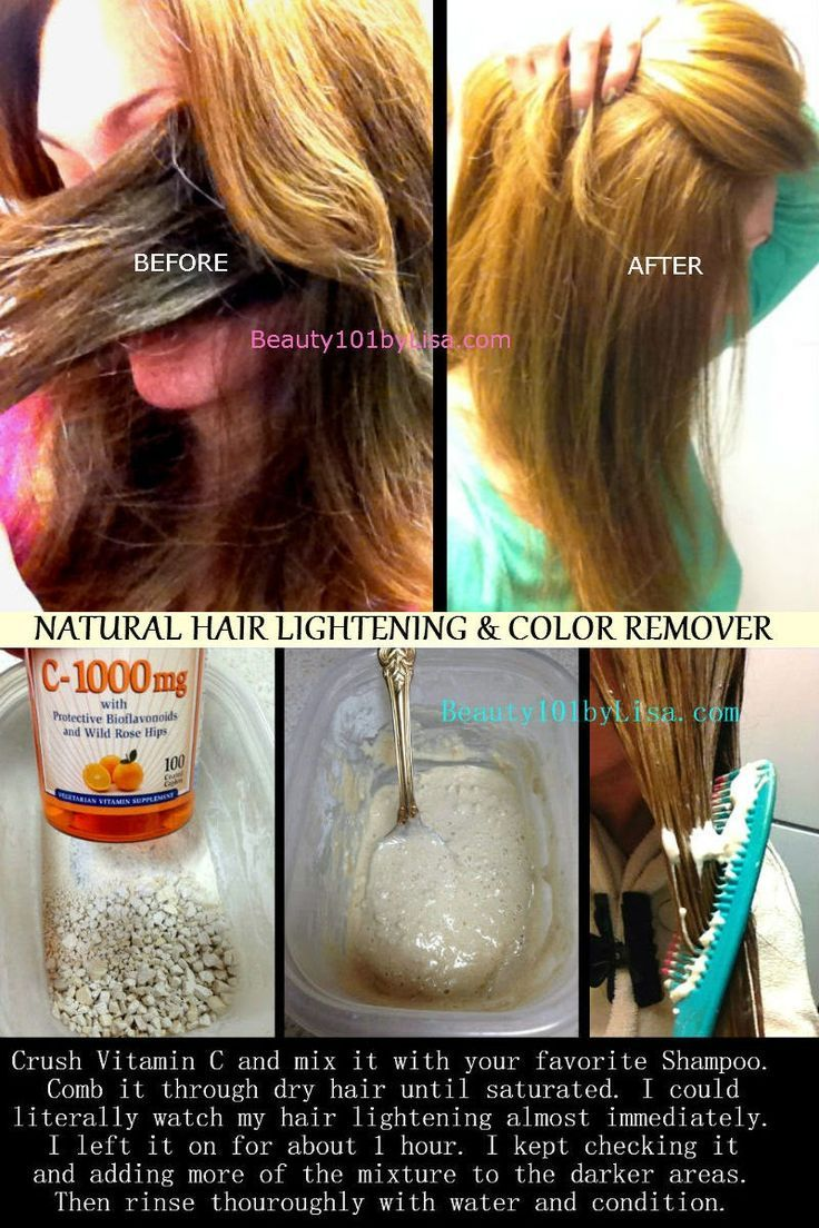 NATURAL HAIR LIGHTENING & COLOR REMOVAL