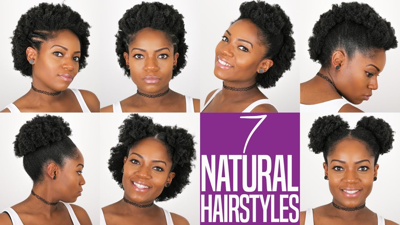 7 Natural Hairstyles For Short To Medium Length Natural Hair 4b 4c Hair Everything Natural Hair