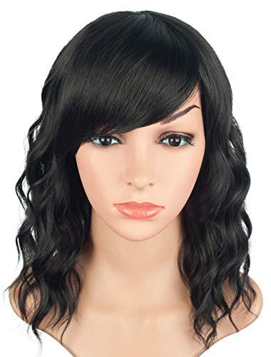 Natural Looking Medium Long Wavy Wigs For Black Women Short ...